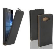 Microsoft Lumia 950 - Flip Case Cover Hoesje Leder Zwart