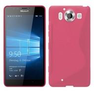 Microsoft Lumia 950 -Tpu Siliconen Case Hoesje S-Style Roze