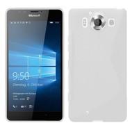Microsoft Lumia 950 -Tpu Siliconen Case Hoesje S-Style Wit