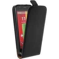 Motorola Moto G (3rd gen) 2015 - Flip Case Cover Hoesje Lederlook Zwart