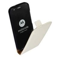 Motorola Moto G (2nd gen) 2014 - Flip Case Cover Hoesje Lederlook Wit