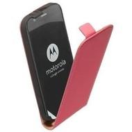 Motorola Moto G (2nd gen) 2014 - Flip Case Cover Hoesje Lederlook Roze
