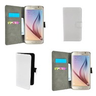 Samsung Galaxy S6 - Wallet Bookstyle Case Lederlook Wit