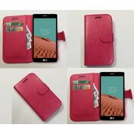 Lg Bello 2 - Wallet Bookstyle Case Lederlook Roze