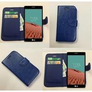 Lg Bello 2 - Wallet Bookstyle Case Lederlook Blauw
