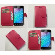 Samsung Galaxy J1 Ace - Wallet Bookstyle Case Lederlook Roze