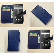 Sony Xperia Z5 - Wallet Bookstyle Case Lederlook Blauw