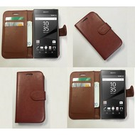 Sony Xperia Z5 - Wallet Bookstyle Case Lederlook Bruin