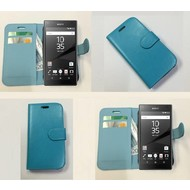 Sony Xperia Z5 - Wallet Bookstyle Case Lederlook Turquoise