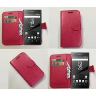 Sony Xperia Z5 Premium - Wallet Bookstyle Case Lederlook Roze