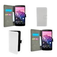 Lg Nexus 5X - Wallet Bookstyle Case Lederlook Wit