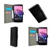 Lg Nexus 5X - Wallet Bookstyle Case Lederlook Zwart