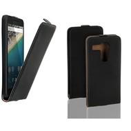 Lg Nexus 5X - Flip Case Cover Hoesje Lederlook Zwart