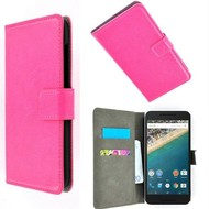Huawei Nexus 6P - Wallet Bookstyle Case Lederlook Roze