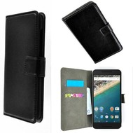 Huawei Nexus 6P - Wallet Bookstyle Case Lederlook Zwart
