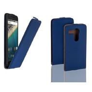Huawei Nexus 6P - Flip Case Cover Hoesje Leder Blauw