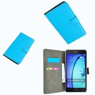 Samsung Galaxy On5 - Wallet Bookstyle Case Lederlook Turquoise