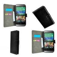 Htc One M8s - Wallet Bookstyle Case Lederlook Zwart