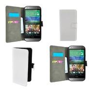 Htc One M8s - Wallet Bookstyle Case Lederlook Wit