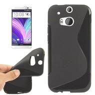 Htc One M8s - Tpu Siliconen Case Hoesje S-Style Zwart