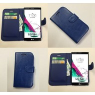 Lg G4 Beat - Wallet Bookstyle Case Lederlook Blauw
