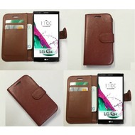 Lg G4 Beat - Wallet Bookstyle Case Lederlook Bruin