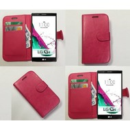 Lg G4 Beat - Wallet Bookstyle Case Lederlook Roze