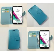 Lg G4 Beat - Wallet Bookstyle Case Lederlook Turquoise
