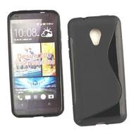 HTC Desire 700 - Tpu Siliconen Case Hoesje Zwart