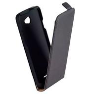 HTC Desire 516 - Flip Case Cover Hoesje Leder Zwart