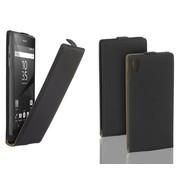 Sony Xperia Z5 - Flip Case Cover Hoesje Lederlook Zwart