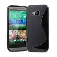 Htc One M9 Plus- Tpu Siliconen Case Hoesje S-Style Zwart