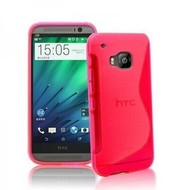 Htc One M9 Plus- Tpu Siliconen Case Hoesje S-Style Roze