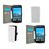 Huawei Y635 - Wallet Bookstyle Case Lederlook Wit