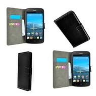 Huawei Y635 - Wallet Bookstyle Case Lederlook Zwart