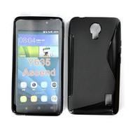 Huawei Y635 - Tpu Siliconen Case Hoesje S-Style Zwart
