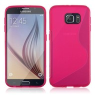 Samsung Galaxy S6 Edge - Tpu Siliconen Case Hoesje S-Style Roze