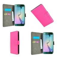 Samsung Galaxy S6 Edge - Wallet Bookstyle Case Lederlook Roze