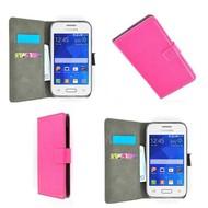 Samsung Galaxy Young 2 - Wallet Bookstyle Case Lederlook Roze