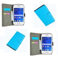 Samsung Galaxy Young 2 - Wallet Bookstyle Case Lederlook Turquoise