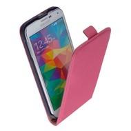 Samsung Galaxy Core Prime VE - Flip Case Cover Hoesje Lederlook Roze
