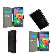 Samsung Galaxy Grand Prime VE - Wallet Bookstyle Case Lederlook Zwart