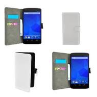 LG Nexus 5 - Wallet Bookstyle Case Lederlook Wit