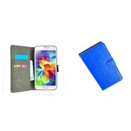 Samsung Galaxy S5 Mini - Wallet Bookstyle Case Lederlook Blauw