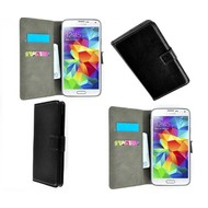 Samsung Galaxy S5 Mini - Wallet Bookstyle Case Lederlook Zwart