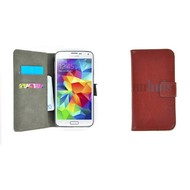 Samsung Galaxy S5 Mini - Wallet Bookstyle Case Lederlook Bruin