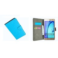 Samsung Galaxy On7 - Wallet Bookstyle Case Lederlook Turquoise