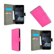 HTC One A9 - Wallet Bookstyle Case Lederlook Roze