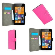 Microsoft Lumia 535 - Wallet Bookstyle Case Lederlook Roze