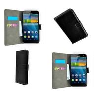 Huawei Ascend G7 - Wallet Bookstyle Case Lederlook Zwart